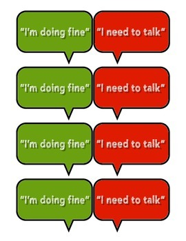 """I Need To Talk"" desk tags for students"