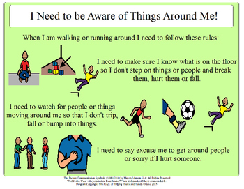 I Need to Be Aware of Things Around Me - Social Story
