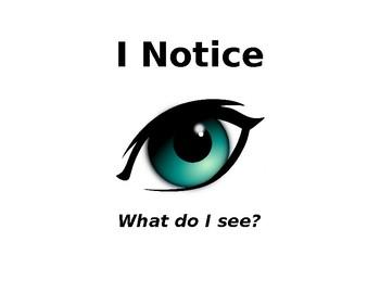 I Notice - I Wonder Expeditionary Learning Visual