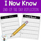 I Now Know End of Day Reflection