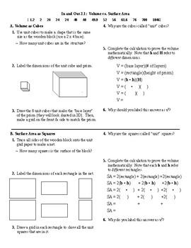 I.O.2.1: Surface Area vs Volume