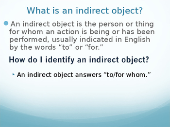 Indirect Object Pronoun Practice