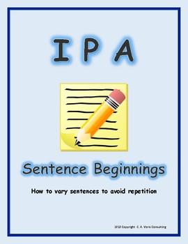 I P A Varying Sentence Beginnings