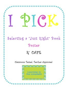 I P-I-C-K for Just Right Books Poster- Black & Bright