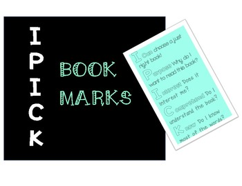 I - PICK Bookmarks
