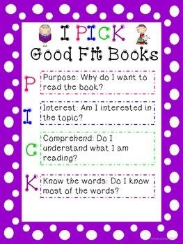 I PICK Good Fit Books Poster
