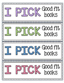 I PICK Good Fit Books Poster and Bookmark Set