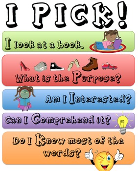 I PICK Poster for Daily Five
