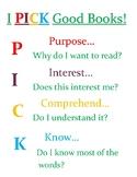 I PICK Reading Choice Poster