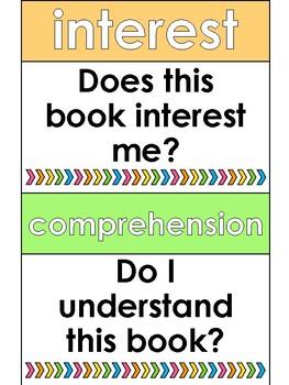 I PICK Reading Poster Printable