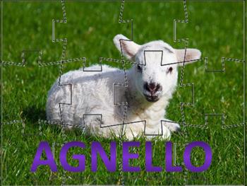 Italian: I Puzzle degli Animali Pasquali (Set of Six)