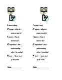 I-Pick Bookmarks for Students (Helps students when choosing books)