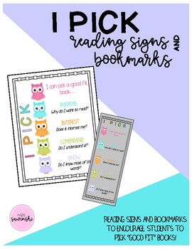 """I Pick"" Reading Sign"