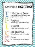 I Pick Strategy Poster - Just Right Book - Good Fit Book - IPick Poster FREE