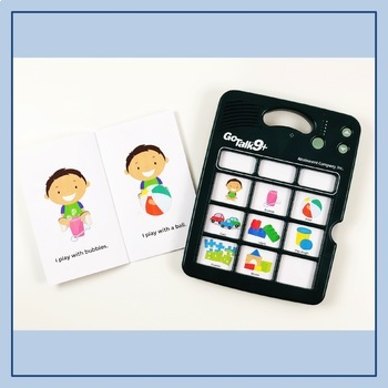 AAC Core Vocabulary Early Readers: I Play With Toys