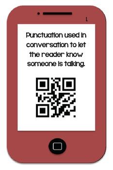 I- Pod QR Code Punctuation Fun! Freebie!