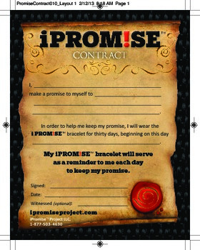I Promise Project - Individual iProm!se contract for setti