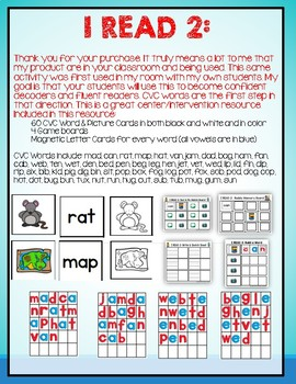 I READ 2: 4 CVC Learning Games