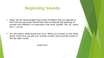 I-READ Beginning Sounds Power Point