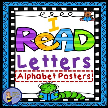 I READ Letters Alphabet Posters