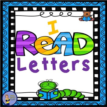 I READ - Letters BUNDLE- Alphabet Mini books! Posters! Assessment!
