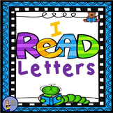 I READ - Letters BUNDLE- Alphabet Mini books! Posters! Ass