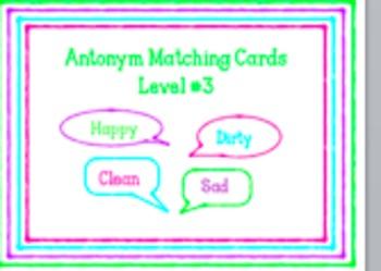 I-READ Prep Antonym Matching Cards Level #3