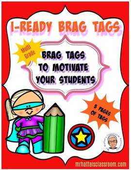 I-Ready Brag Tag Motivational Support for Students Struggling with Motivation