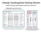 I-Ready Growth Tracking Goal Setting - Student Data Notebooks (Editable)