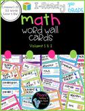 I-Ready Math Vocabulary Word Wall, 3rd Grade, Volume 1-2