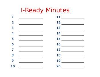 I-Ready Minute Tracker