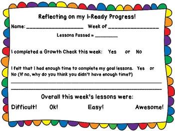 I-Ready Weekly Progress Tracker