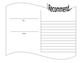 I Recommend - Peer to Peer Book Recommendation Worksheet