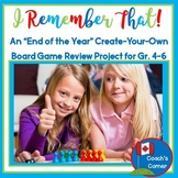 End of the Year Review Project | Create Your Own Board Game