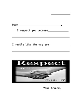 I Respect You Because letter