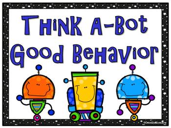 I, Robot Themed Behavior Clip Chart