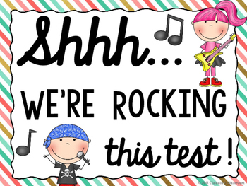I Rocked This Test!  (A Test Taking Motivational Kit)
