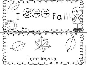 I SEE Fall- Emergent Reader