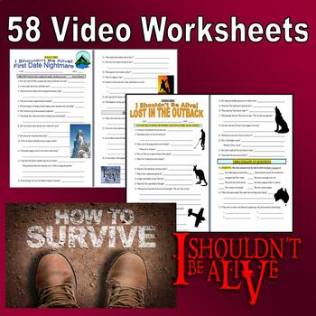 I SHOULDN'T BE ALIVE : COMPLETE SERIES BUNDLE (58 Video Worksheets)
