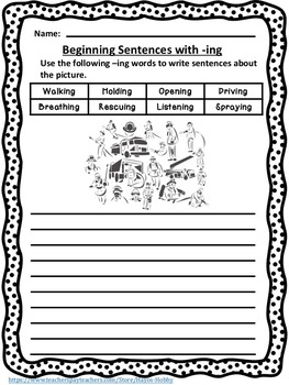 I-SPACED Strategy to teach students to write sentences with varied beginnings.