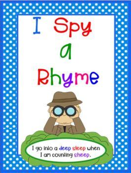 I SPY A RHYME Smartboard Lesson and PRINTABLE Card Set