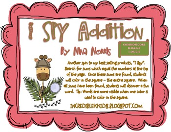 I SPY Addition  KOA.A5 and 10A.C6