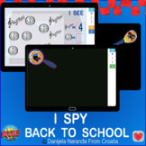 I SPY BACK TO SCHOOL Bundle Memory Counting Within 10 Boom Cards