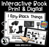 I SPY Black Things Interactive Book: Print and Digital Versions Included