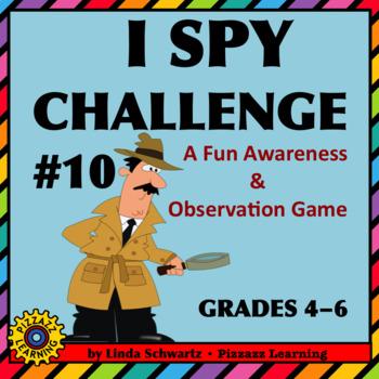 I SPY CHALLENGE #10 • A FUN AWARENESS & OBSERVATION GAME