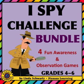 I SPY CHALLENGE BUNDLE • AN AWARENESS AND OBSERVATION GAMES