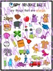 I SPY Dry-Erase Sheets - Colors