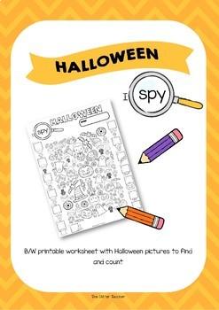 I SPY - HALLOWEEN Worksheet