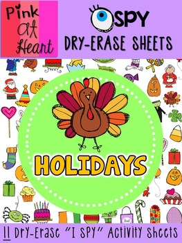 I SPY Dry-Erase Sheets - Holidays