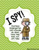 I SPY! Kindergarten Journeys Unit 6 - Bundle